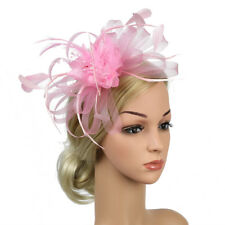 7758ad0e7eaaa Womens Sinamay Fascinator Cocktail Party Hat Wedding Church Kentucky Derby  Dress