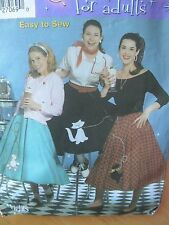 Simplicity HALLOWEEN Costume Poodle Skirt Applique Cat Kitty Scottie Dog PATTERN