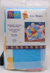 Beacon Winnie the Pooh Baby Blanket Patchwork Acrylic Poly 90's A.A. Milne NEW