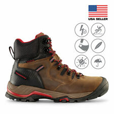 "Maelstrom Men's Zion 6"" Earth Brown Waterproof Work BOOTS for Industrial Constru"