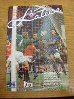 03/04/1993 Oldham Athletic v Wimbledon  . Item appears to be in good condition u