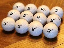 12 Bridgestone E6 Soft Golf Balls - Used - A / B Grade