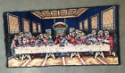 Vintage The Last Supper Velvet Wall Tapestry Table Runner Made in Italy 38 x 19