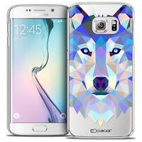 Coque Housse Etui Pour Galaxy S6 Edge Polygon Animal Rigide Fin Loup