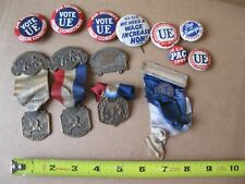 Union pin medal lot Boston Portland Oregon CIO UE tea party Paul Revere