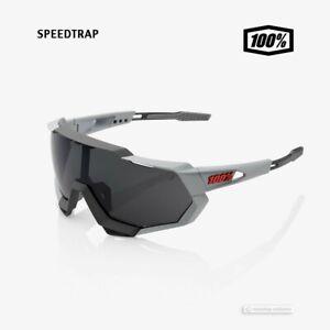 100% SPEEDTRAP Cycling UV Sunglasses : SOFT TACT STONE GREY/SMOKE LENS