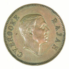 Sarawak 1 Cent 1941 H Extremely Rare (Only 50 Believed To Exist)
