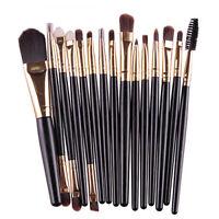 AU_ FT- 15Pcs Makeup Brush Set Powder Foundation Eyeshadow Eyebrow Concealer Lip