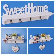 Home Wall Mount Key Rack Hanger Holder 4Hook Chain Storage Key Organizer Decor