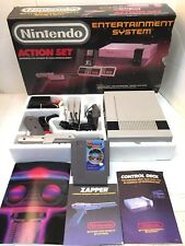 NES NINTENDO ACTION SET In original Box! NES-001 CONSOLE + GUN + MANUALS + GAME