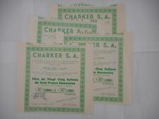 LOT de 4 CHARKER           1941 TANGER Bd Antee  MAROC Francs Marocains