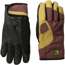POW Mens VANDAL Leather Skiing Snowboarding Goves Large Black Brown RUST