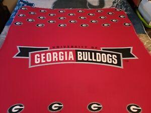 Georgia Bulldogs NCAA 56x50 Throw Blanket, Plush Feel 100% Poly, Immaculate