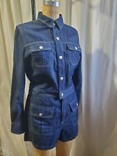 Alexa Chung For Adriano Goldschmied AG Denim Romper Size Large