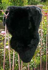 Lammfell Schaffell schwarz ökologisch gegerbt ca. 100 -110 cm
