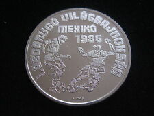 """MDS Hongrie 500 forint 1986 """"Fifa football coupe du monde Mexico"""", argent #md1, 45"""