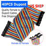 40pcs 30cm Female To Female Dupont Wire Jumper Cable for Arduino Breadboard