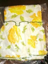 """NEW VTG Yellow Flowers 36"""" Curtains 40 x 36 (2) Cecilia Fashion Manor PENNEYS"""