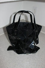 Used Excellent CONDITION Auth Issey Miyake Black LUCENT BASIC TOTE Bao Bao bag