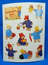 Paddington Bear 1984 Eden Toys Inc Sticker Sheet