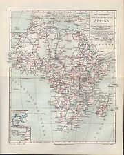Carte MAP 1905: recherche voyages en Afrique. nord-Afrique Africa colonies