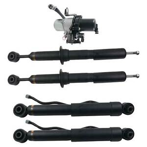 4x Air Suspension Shock Absorbers + Compressor Pump for Toyota Sequoia 2008-2019
