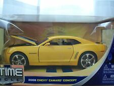 """JADA """"BIGTIME MUSCLE"""" 2006 (2010) CHEVY CAMARO CONCEPT (YELLOW) 1/24 DIECAST"""