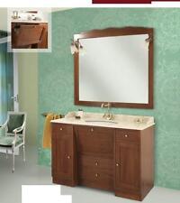 arredo bagno classico roma cm130x58 legno massello finitura noce