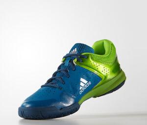 adidas Quickforce 5.1 Badminton Shoes Unisex Blue Indoor Racquet Racket AQ2375