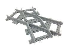 Lego train track - crossed tracks 45deg LEFT VERSION  custom made 3d printed!