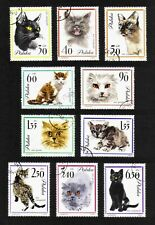 Poland 1964 Cats complete set of 10 values (SG 1469-1478) used