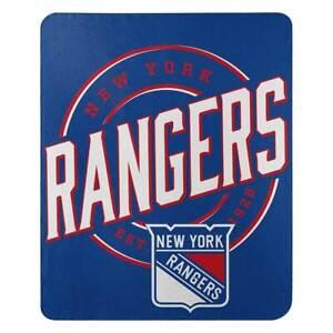 "New York Rangers NHL Northwest 50""x60"" Campaign Fleece Throw Blanket FREE"