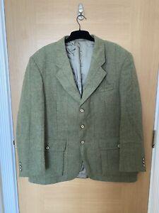 Hucklecote Men's Tweed Shooting Jacket, Norfolk Derby Keepers Coat 44 Large