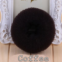 Women Girls Hair Donut Bun Maker Ring French Roll Brown, Black and Blond S M L