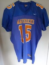 "Vintage Nike Game Used ""Mavericks"" # 15 High School Football Jersey Men Large"