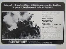 3/1976 PUB SCHERMULY SIMFIRE SOLARTRON ALVIS SALADIN ARTIFICES ORDRE FRENCH AD