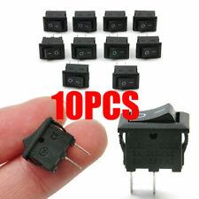 Lots 10Pcs 10x15mm SPST ON/OFF Switch Mini Black 2 Pin Rocker Switch DC 12V 16A