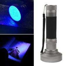 UV 100 LED Blacklight Scorpion 395nm Violet Flashlight Detection Torch Light New