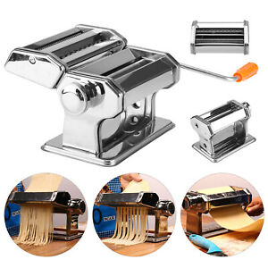 Pasta Maker Kitchen Tool Spaghetti Roller Lasagne Tagliatelle Cutter Machine New