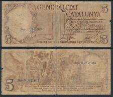 República Española-  Nº 00423 - 5 ptas. 25/09/1936  RC Generalitat de Catalunya