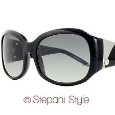 Montblanc Oval Sunglasses MB222S 0B5 Shiny Black 222