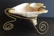 C. 1900 Exquisite Victorian Rare Shell & Twisted Wire Jewelry Trinket Holder