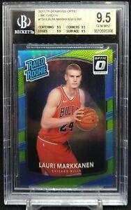2017-18 Donruss Optic Lauri Markkanen Lime Green RC #159 /175 BGS 9.5 Bulls