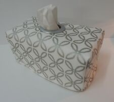 Tissue Box Cover Metallic Boxed Clover With Circle Opening - Gorgeous!