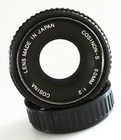 PENTAX K MOUNT COSINA COSINON-S 50mm f/2 NIFTY FIFTY PRIME PORTRAIT LENS