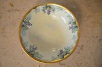 Silesia Dish Bowl With Grape Design Gold trim