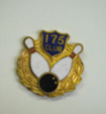 Bowling pin enameled new 175  club blue white gold stick pin back