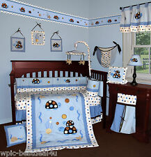 Baby Boutique - Turtle Parade - 14 pcs Crib Nursery Bedding Incl. Music Mobile