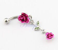 JW727 Barbell Belly Bar Ring Button Navel Body Piercing Jewelry Unique Dance HM