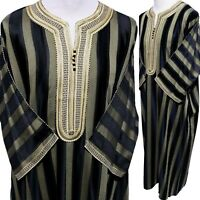 SIZE 54 Men Moroccan 3/4 Sleeves Cotton Blend Thobe-MADE IN MOROCCO